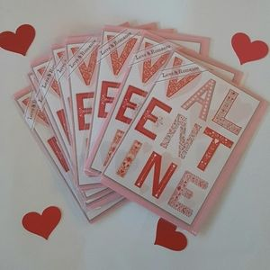 {Trader Joe's} 9 Valentine's Cards Envelopes Art